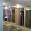 "Clear Mirrors with 2"" Beveled Overlays"